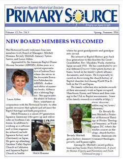 Front Cover of Primary Source Newsletter issued 2014-06