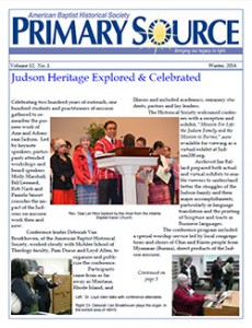 ABHS Primary Source Newsletter, Volume 12, No. 1, Winter 2014